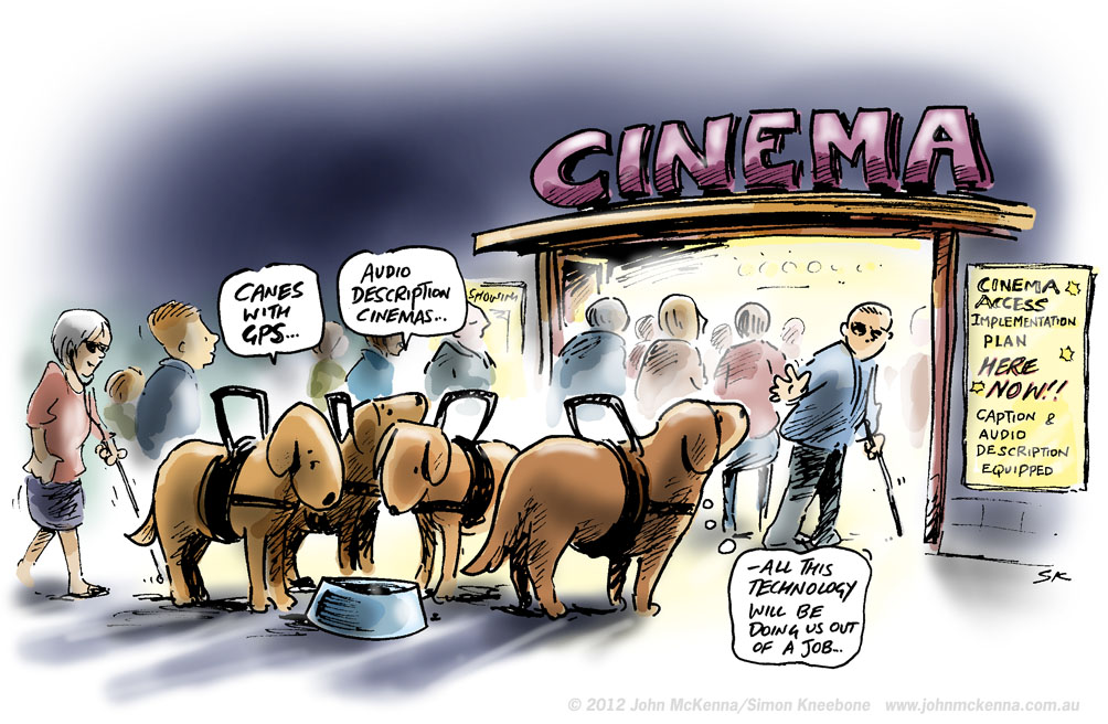 improved accessibility for people who are blind or have low vision at the movies